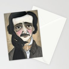 Edgar Allan Poe and the Black Cat Stationery Cards