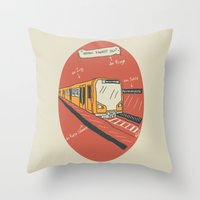 U-BAHN  Throw Pillow