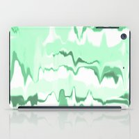 Marbled in emerald iPad Case