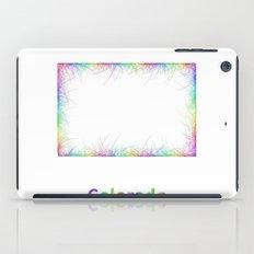 Rainbow Colorado map iPad Case