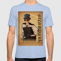 Steampunk Lady Mens Fitted Tee Tri-Blue SMALL