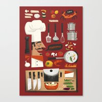 Italian Kitchen Canvas Print