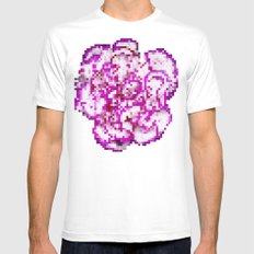 8BIT flower Mens Fitted Tee White SMALL