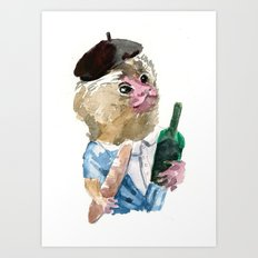 Mr. Marmoset Art Print