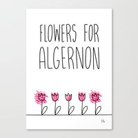 Daniel Keyes: Flowers for Algernon Canvas Print