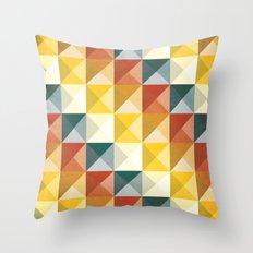 B/W/Y/O/R Throw Pillow