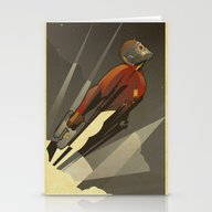 Stationery Cards featuring The Star-Lord by The Art Of Danny Haa…