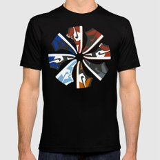 Color Wheel No.001 Mens Fitted Tee Black SMALL