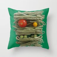 Throw Pillow featuring A Thing Of The Pasta 2  by Marco Angeles