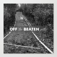 Off The Beaten Path Canvas Print