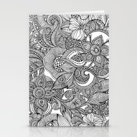 Flowers and doodles Stationery Cards