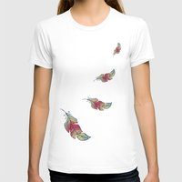 feather T-shirts featuring Feather by Juste Pixx Designs