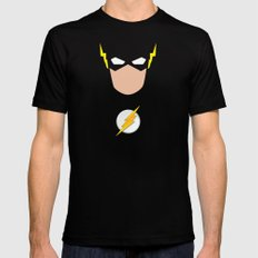 FLASH SMALL Mens Fitted Tee Black
