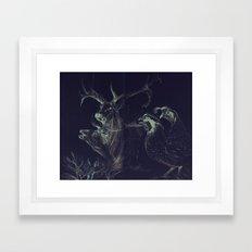 Elk & Quail Framed Art Print