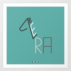 z- zebra Art Print