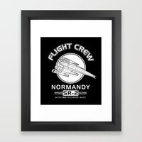 Normandy Flight Crew Framed Art Print