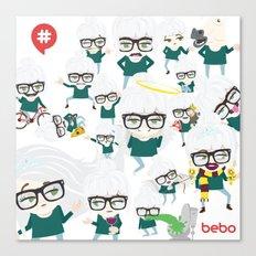 bebotestbag Canvas Print