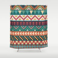 Shower Curtain featuring Southwestern Pattern by Noonday Design