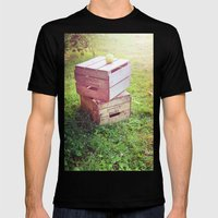 Apple Crates Mens Fitted Tee Black SMALL