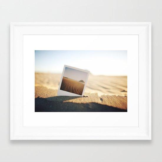 Morro Bay Polaroid Framed Art Print