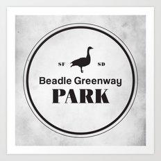 Beadle Greenway Park Art Print