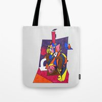 Woman By The Fireplace Tote Bag