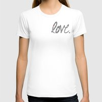Love Zentangle  Womens Fitted Tee White SMALL