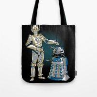 Cyber3PO and R2Dalek Tote Bag