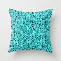 Turquoise And Blue  Throw Pillow