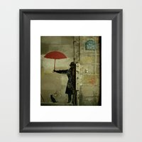 Rue Du Chat Qui Peche Framed Art Print