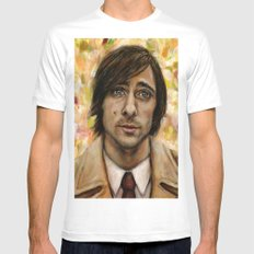 Jason Schwartzman Mens Fitted Tee White SMALL
