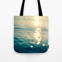 Blurred Tides Tote Bag