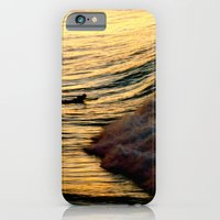 iPhone & iPod Case featuring Sunset Wave by Dave Houldershaw
