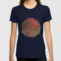 Abstract Me Womens Fitted Tee Navy SMALL