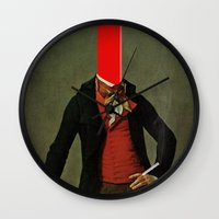 The Red Stripe In The He… Wall Clock