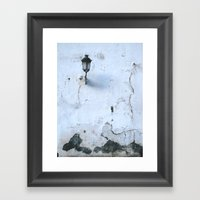 Cracked Framed Art Print