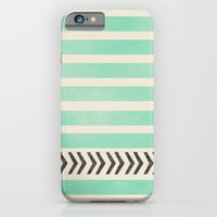 iPhone & iPod Case featuring MINT STRIPES AND ARROWS by Allyson Johnson