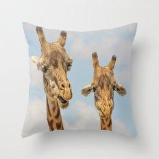 giraffes Throw Pillow