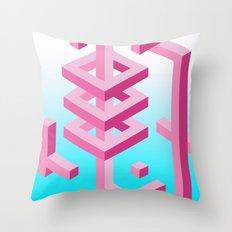 Isometric Adventure Throw Pillow