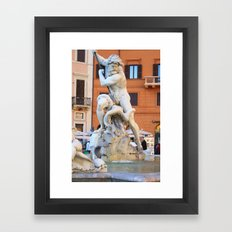 Poseidon - Piazza Navona Framed Art Print