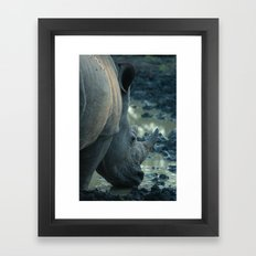 Thirsty Rhino Framed Art Print