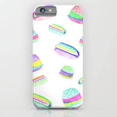 Colorful Hot-Dog and Burger Pattern Slim Case iPhone 6s