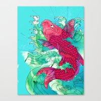 Lucky Koi Canvas Print