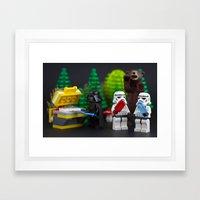 Company BBQ Framed Art Print