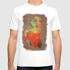 Shapaint Mens Fitted Tee SMALL White