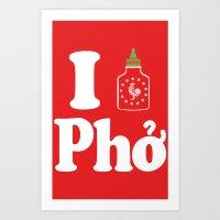 I Heart Pho Art Print