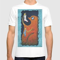 Il Mostro Mangiacalzini Mens Fitted Tee White SMALL
