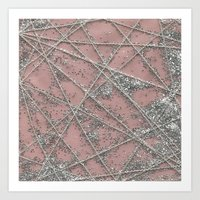 Sparkle Net Pink Art Print
