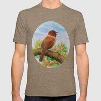 A Brown Bird Mens Fitted Tee Tri-Coffee SMALL