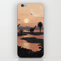 Jurassic Beach iPhone & iPod Skin